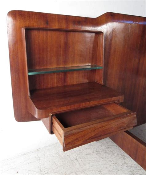 italian bed frame mid century italian bed frame with end tables at 1stdibs