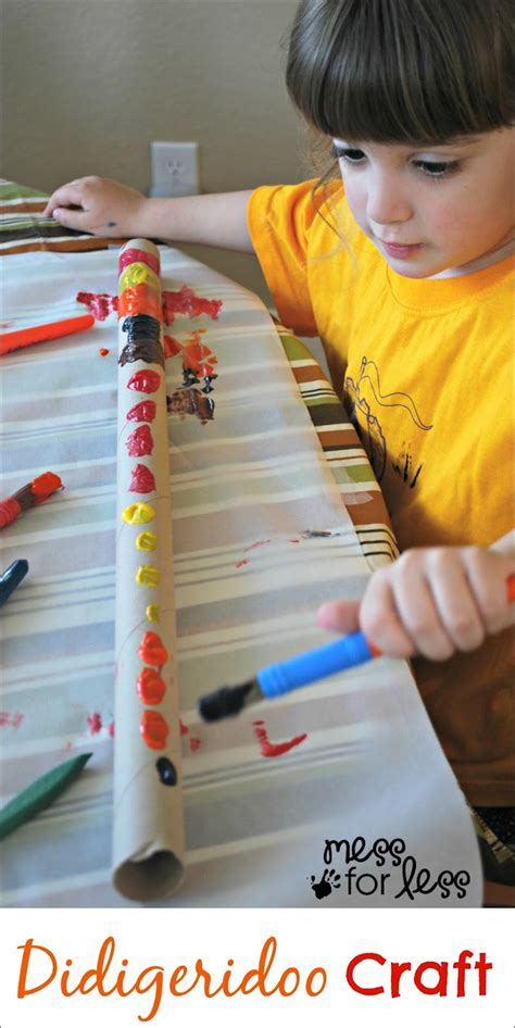 to make with toddlers didgeridoo craft for mess for less