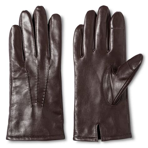 brown leather gloves mens s leather gloves brown merona