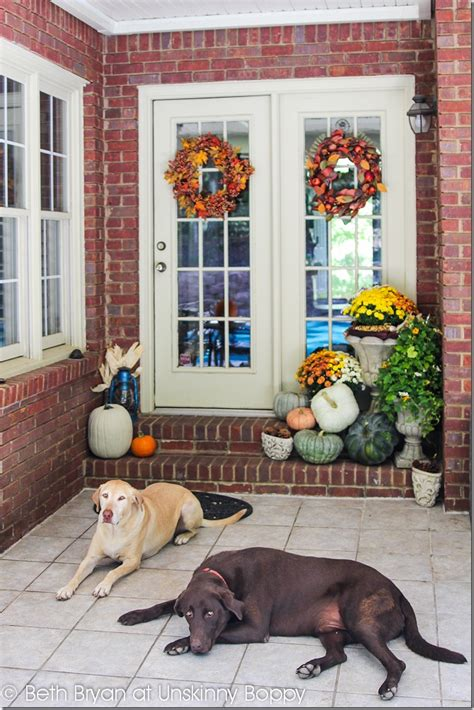 pictures of decorated front porches decorating the back front porch for fall unskinny boppy