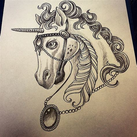 unicorn unicorntattoo unicornio neotraditional neotra