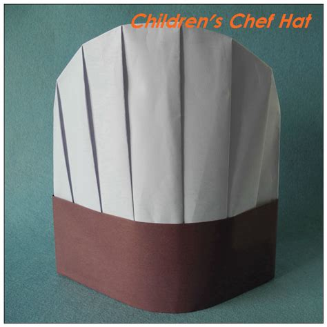 chef hat craft for white brown paper chef hat 23cm 9 quot disposable paper