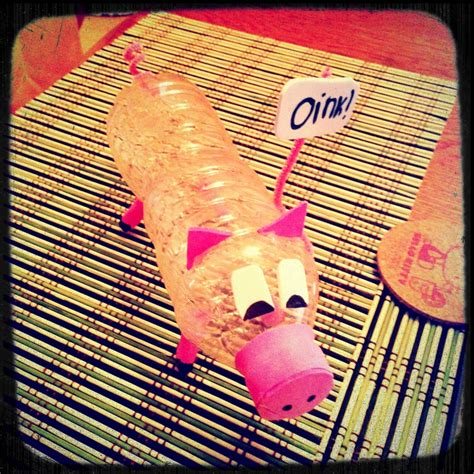 water bottle craft ideas for water bottle pig crafts for the oink