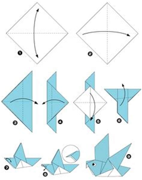 easy origami bird for origami on