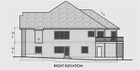 sloping lot house plans side sloping lot walkout basement 50 ft wide