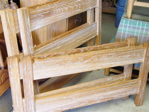 oak furniture bunk beds ranch oak a brandt set of bunk beds rails ladder sold