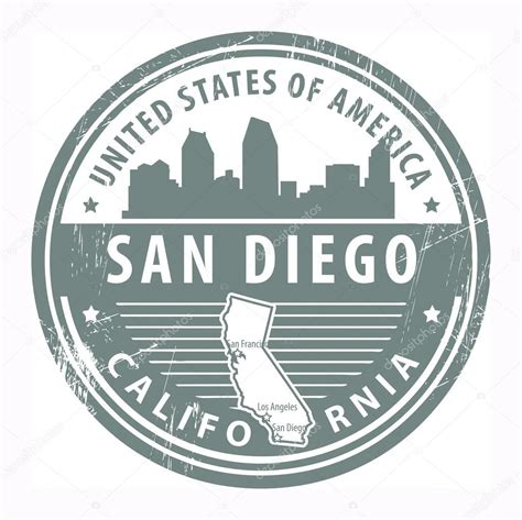 rubber sts san diego california san diego st stock vector 169 fla 22333875