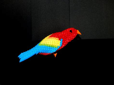 how to make a 3d origami 3d origami parrot macaw tutorial part1