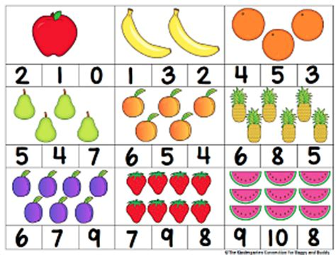 for counting counting activity fruit themed count and clip cards