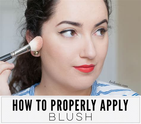 how to properly use how to properly apply blush