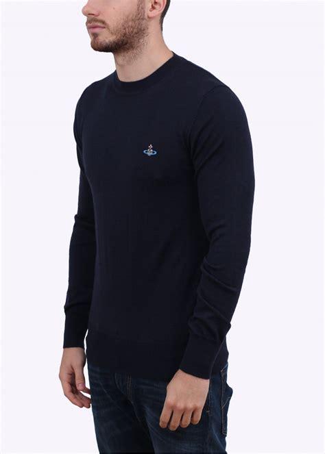 blue knitted jumper mens vivienne westwood mens knitted jumper navy blue