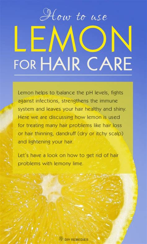 how to use in hair how to use lemon for hair care