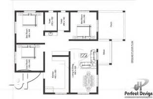small house plan designed to be built above 80 square meters
