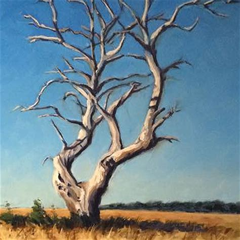 acrylic paint trees dead standing tree acrylic painting lesson canvas ii