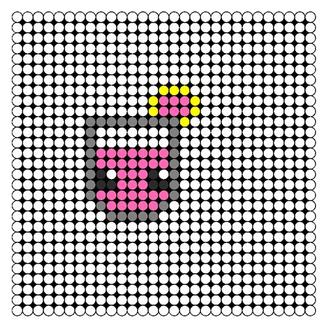 kawaii perler bead patterns kawaii pink lemonade perler bead pattern bead sprites