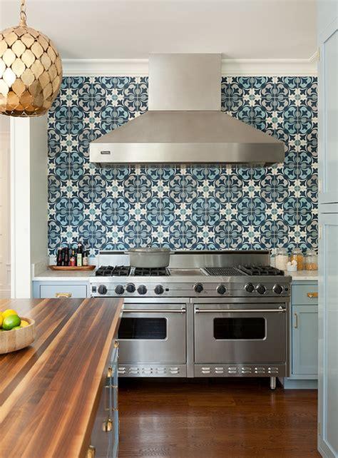 kitchens with mosaic tiles as backsplash blue kitchen cabinets with blue mosaic tile backsplash