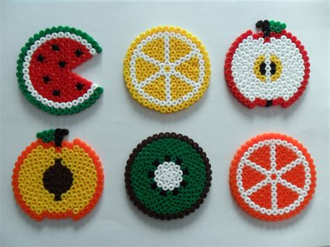 melty designs fruit salad coasters hamabeads http floresdecelofan