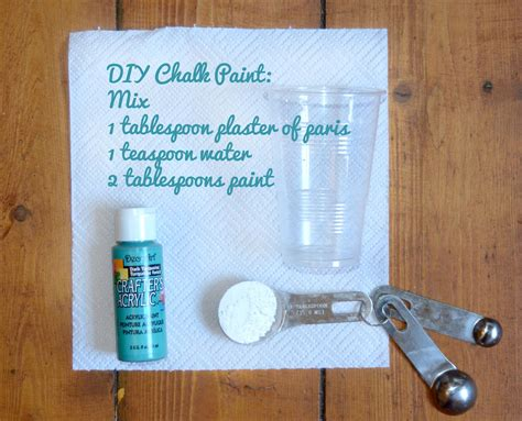 diy chalk paint mixture diy how to make chalk paint