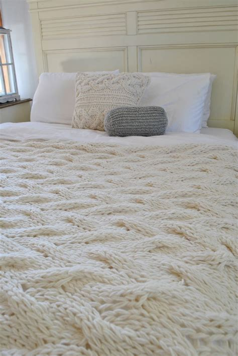 cable knit bedding king chunky cable knit blanket in wool throw
