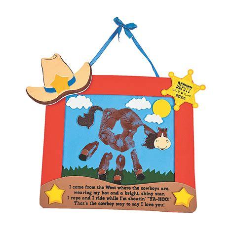 western crafts for self adhesive ranch handprint keepsake craft kit