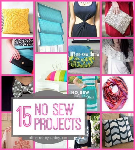 no sew craft projects 15 no sew projects a craft in your daya