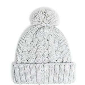 how to knit a cable beanie pom pom cable knit beanie mango polyvore