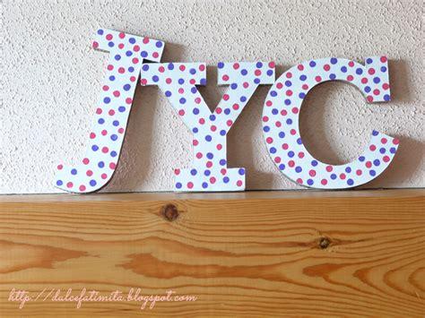 letras de carton decoradas letras diy aprender manualidades es facilisimo