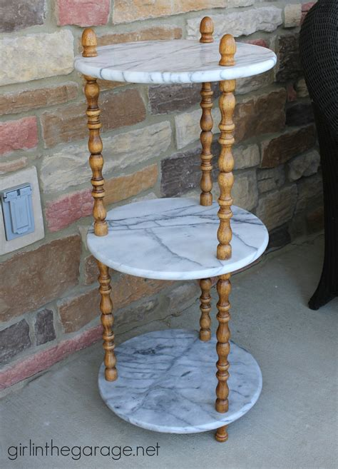 chalk paint on marble marble table update in the garage 174
