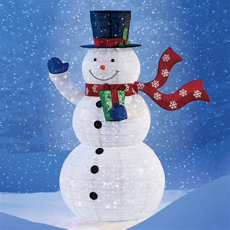 outdoor light up snowman pop up snowman with 300 led lights collapsible