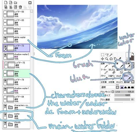 paint tool sai japanese to painttool sai water tutorial free3dtutorials