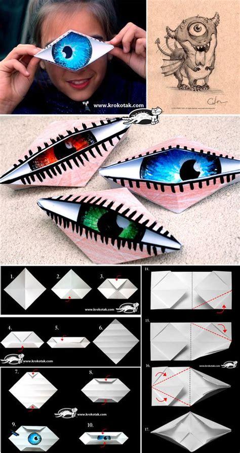 eye origami i look like a cyclops or winking eye origami great for