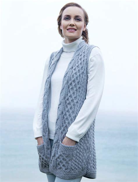 aran vest knitting pattern cable aran waistcoat wool waistcoat sweater vest