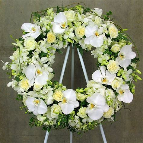 white wreaths white funeral wreath sydney flowers for everyone