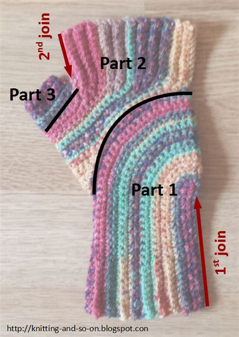 knitting turn knitting and so on crochet u turn mitts