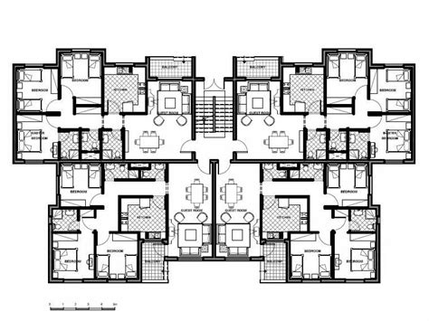 unit plans apartment building design plans 8 unit apartment building