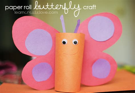 butterfly construction paper craft paper roll butterfly craft