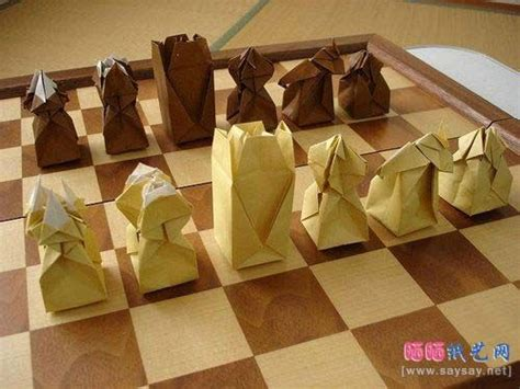 how to make origami chess pieces origami chess set schaken