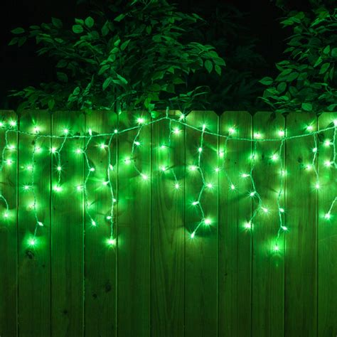 icile lights icicle light 100 green icicle lights white