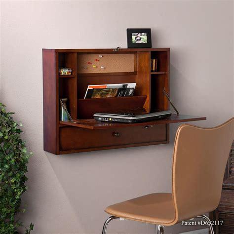 computer desk on wall sei wall mount laptop desk brown mahogany