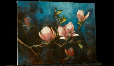 acrylic painting lesson impressionist magnolias an acrylic painting