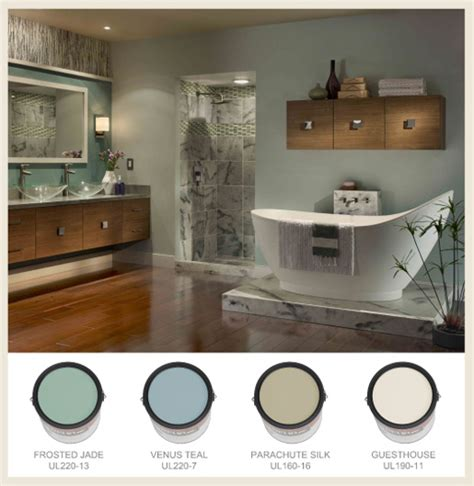 Spa Bathroom Color Schemes by Colorfully Behr Bathroom Color Splendor