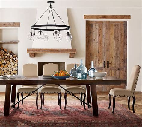 dining room table pottery barn benchwright extending dining table pottery barn