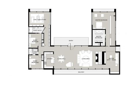 u shaped home with unique floor plan u shaped houses on courtyard house plans