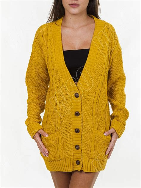 knit cardigan for new womens cable knit knitted baggy boyfriend