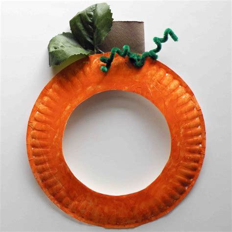 paper pumpkin craft pumpkin paper plate craft for insting blogs