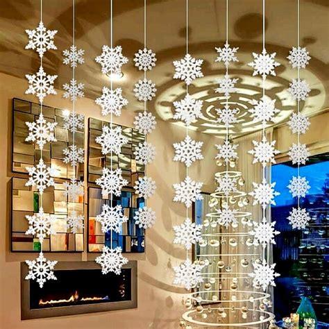 hanging decoration aliexpress buy wholesale 50packs silver snowflake