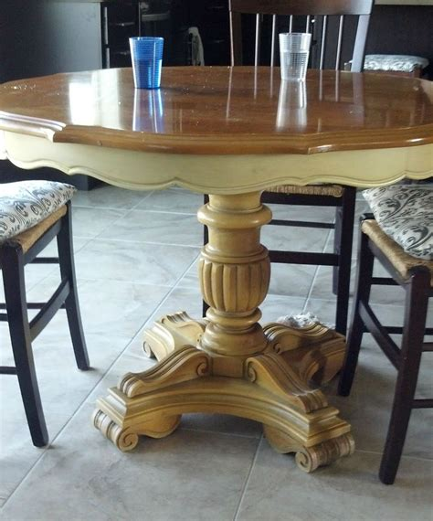 chalkboard paint kitchen table hometalk refurbished craisglist kitchen table with