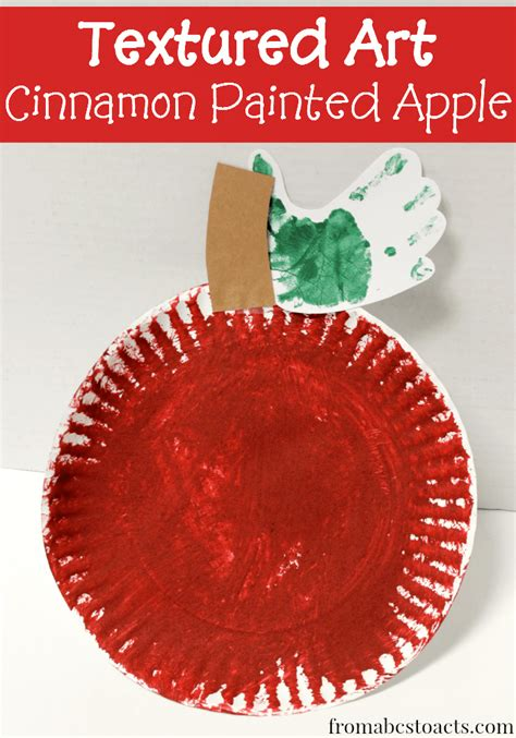 apple craft for textured apple preschool craft from abcs to acts