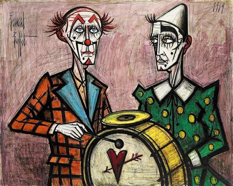 bernard buffet paintings bernard buffet 1928 1999 deux clowns 224 la grosse