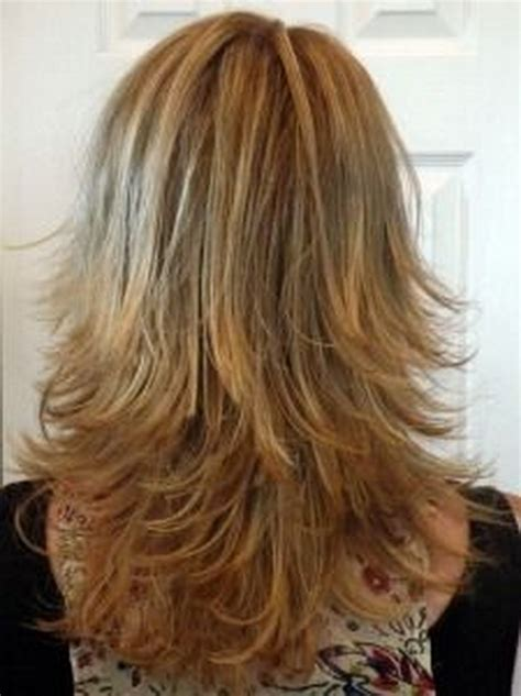 hair with shag back view medium length layered hairstyles back view